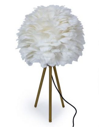 ook at our super cool white feather table lamp! Measuring 58 x 33 x 33cm and is of superb qaulity and finish and great value for money too.