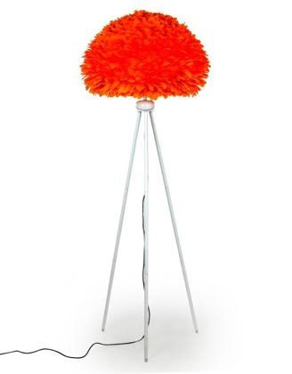 This bright orange feather floor lamp is bursting with quirkiness! Great finish, style and value for money. Measures 168 x 65 x 65cm.
