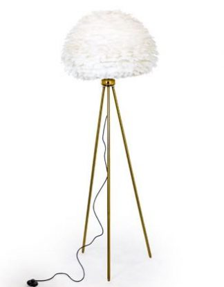 Look at our fabulous white feather floor lamp! Guaranted showstopper! WOW! Measures 168 x 65 x 65cm and is super quality, finish and value for money.