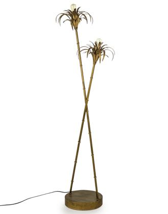 This palm tree floor lamp is so stylish and modern. Great colour and finish, it's a must have!! Great price. Sturdy base. Measures at H126 x W36 x D25cm.