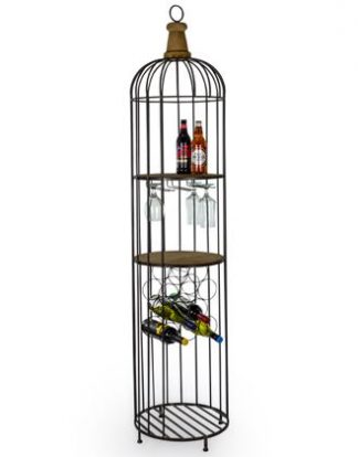 Our Camden bar unit makes a stylish, rustic furniture choice. Wooden shelves, glass storage and a wine rack within its compact space. H187.5 x W41 x D41cm