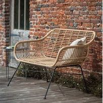 Wonderful retro styling and super quality make this a must have for the garden or conservatory this year! H83 x W126 x D71cm, height of seat 41cm. All weather rattan bamboo. Great value