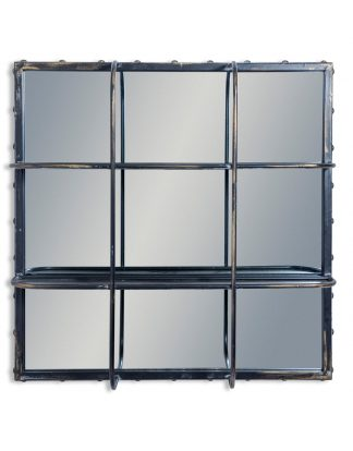 Gorgeous, modern Industrial Shelves Mirror. Super stylish!
