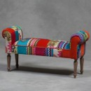 This amazing vibrant patchwork bench seat is fabulous in style, colour, quality and price!! Measures 53 x 102 x 34cm and is superb value for money.