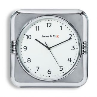 This square chrome diner clock is something definately not to be missed. Measures at H32 x W32 x D8cm. Super versatile size and colour! Great value.