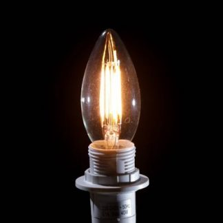 This little LED candle bulb B15 4W retro filament exudes masses of light for very little cost. Install today and see your savings straightaway. Great value.
