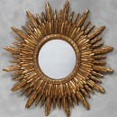 gold round solar mirror wonderful sunburst mirror