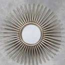silver sunburst mirror large spiky shape