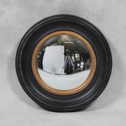 Small Black classic Convex Mirror measures 40 x 40 x 4cm
