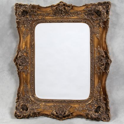 This large square gold classical double framed mirror is so wonderfully styled, hand painted and finished in glorious gold. Measures124 x 104 x 14cm (80 x 59cm glass)