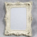 large white classical square mirror has a double frame that is very ornate measures124 x 104 x 14cm (80 x 59cm glass)