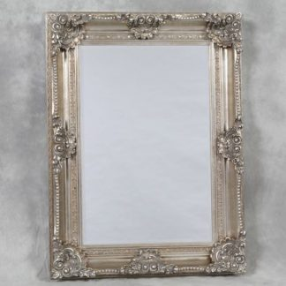 antiqued silver classic ornate mirror 120 x 90 x 10cm great finish, colour and style