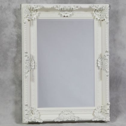 white classic ornate mirror has a touch mor detailing to the frame than its Regal cousin measures 120 x 90 x 10cm