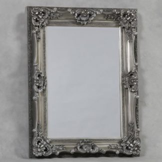 antiqued silver ornate regal mirror measures118 x 90 x 10cm (89 x 61cm glass) perfect colour and lovely finish