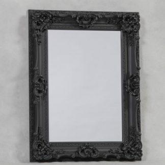 antique black ornate regal mirror 118 x 90 x 10cm