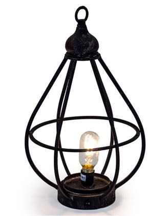 Look at this large rechargeable LED garden lantern light ! Stylish, lightweight and cheap! Completely portable. Cable and bulb included. 51 x 30 x 30cm