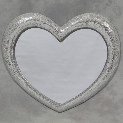 large mosaic glass heart mirror super sparkly measures92 x 110 x 7cm (70 x 80cm glass)
