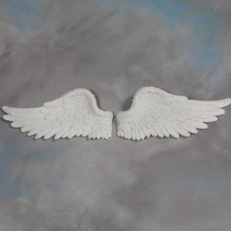 cream angel wings wall hanging
