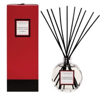 This gorgeous smelling spiced woods and pomegranate diffuser is made in the UK by Stoneglow candles, warm, spicy with zesty citrus notes. Great value gift. 140 ml easily lasts 12 weeks