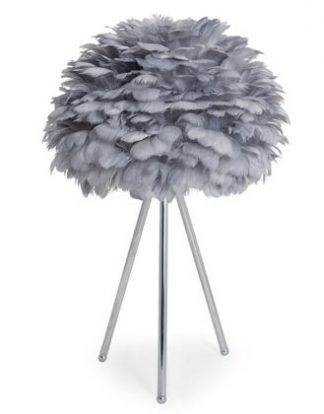 Look at our super cool grey feather table lamp! Measuring 60 X 40 X 40cm and is of superb quality and finish and great value for money too.