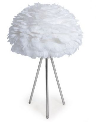 Look at our super cool white feather lamp! Measuring 60 X 40 X 40cm and is of superb quality and finish and great value for money too.