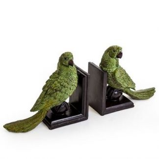 Wowee! Loving these green parrot bookend ornaments! Each is perfectly styled and detailed. Weighty and practical. 22 x 25.5 x 10cm each. Value and Quality