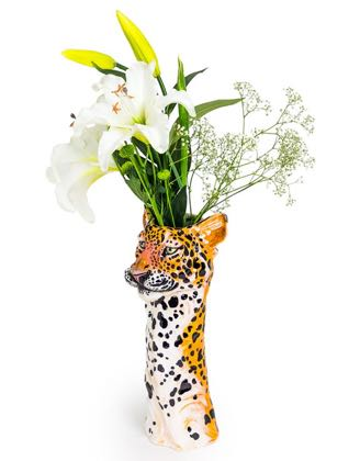 Meet Lexi our luscious ceramic leopard vase. Long elegant lines, superb colour and detail! Wonderful gift! Glossy smooth glaze. A must have! 36 x 14 x 15cm