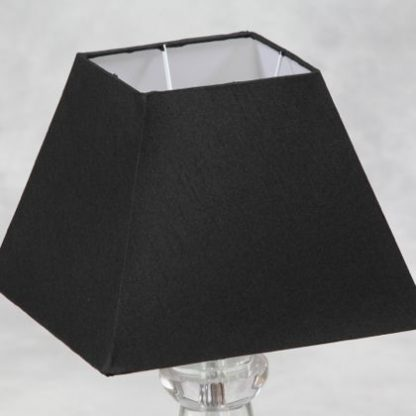 This medium black square shade is a hard shade. the outer is a matt black with silk thread detail and the inner is white. Measures 27 x 36 x 36cm and not only superb quality but value too!