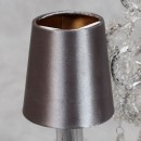 This small silver gold candle shade has the outer covered in a smooth silver colour with the inner being gold. Measures 10 x 10 x 10cm and great quality with superb value for money.