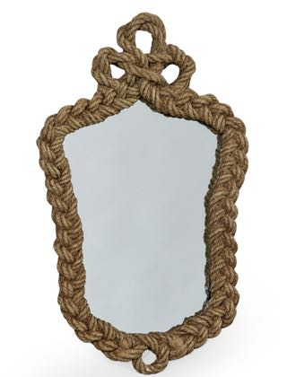 Looking for something different? Then this small rope mirror could be just the thing for you!  52 x 32x 4cm . Perfect bathroom mirror! Made of resin.