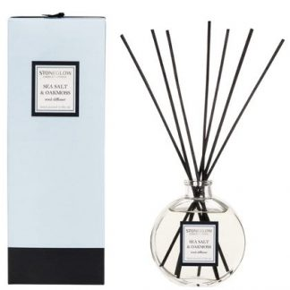 Sea Salt Reed Diffuser.   Herbal notes of thyme, nutmeg and clove in a warm base of rosewood, cedar and sandalwood.  150ml lasts 12 weeks. A great gift for anyone.