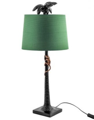 Meet Maurice our gold and black climbing monkey table lamp who has a hard green shade. Wonderful texture, styling and detailing. 84 x 36 x 36cm Super value.