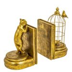 Gold Cat bookends