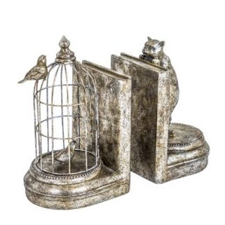 This delightful pair of silver cat bookends are made of metal and resin and are hand finished. The measure 25 x 13 x 14cm and are super value and quality.