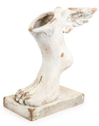 This large winged foot planter is something completely different and off the wall! Great finish, colour and Classical subject. 30 x 40 x 18cm
