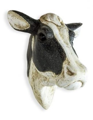 Meet Miriam our cows head wall hanging. Black mosaic glass,her black hair. White antiqued painted for her white bits. Bloomin perfect! 54 x W39 x D46cm