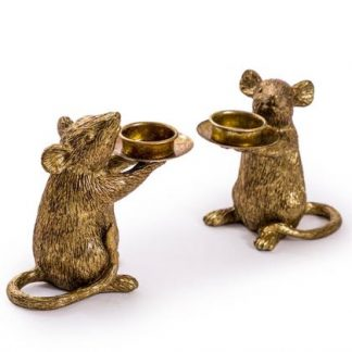 Meet Gavin and Gabby our glorious gold candle holders. Both very helpful and tame! Each is a cute 15 x 16.5 x 8cm. Great gift and good value.