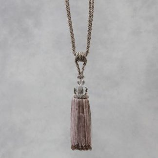 taupe glass ball tassel has a cut glass ball taupe coloured ribbons and beads too perfect for holding back curtains