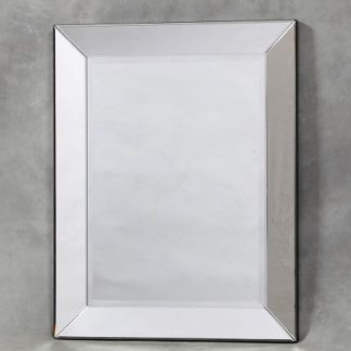This simple plain square Venetian mirror measures 96 x 76 cm and is frameless