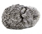 This curled hedgehog ornament is having a snooze! Perfect gift. Great detailing his antique silver finish is perfect. 16 x 13 x 9cm Great value for money