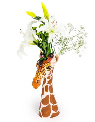 Meet Gerri our goofy ceramic giraffe vase. Long elegant lines, superb colour and detail, a wonderful gift! Glossy smooth glaze. A must have! 38 x 14 x 24cm